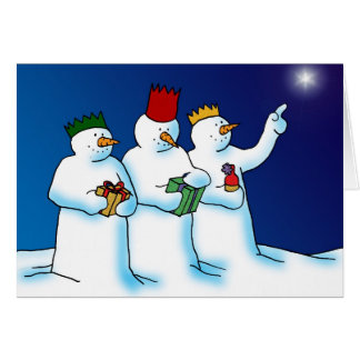 Three Wise Snowmen Card