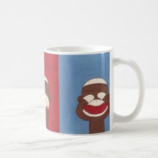 Three Wise Sock Monkeys Mug