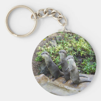 Three Wise Standing Otters, Keychain