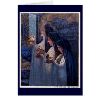 Three Wise Virgins by Carlos Schwabe Fine Art Card