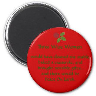 three wise women 2 inch round magnet