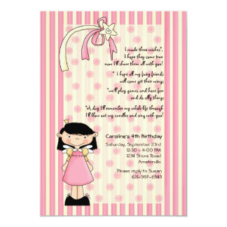 Three Wishes Birthday Invitation