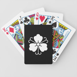 Three wisteria blooms with vines bicycle playing cards