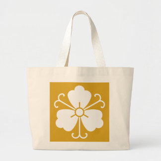 Three wisteria blooms with vines large tote bag