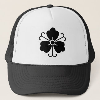 Three wisteria blooms with vines trucker hat