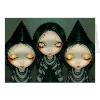 """""""Three Witchy Sisters"""" Greeting Card"""