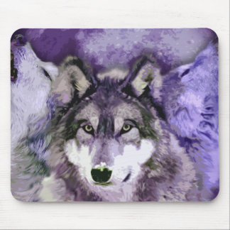 Three Wolves Mouse Pad