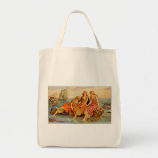 Three Women Cooling Their Feet in the Sea, Tote Bag