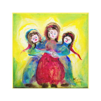 Three women to the Mother's Day Canvas Print
