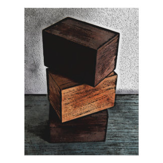 Three Wooden Boxes On Dresser Poster