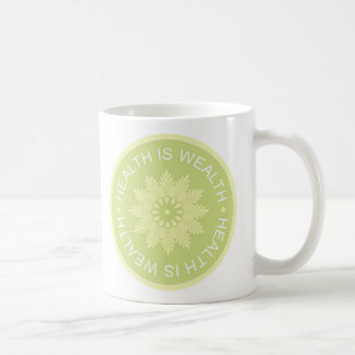 Three Word Quotes ~Health Is Wealth~ Mug