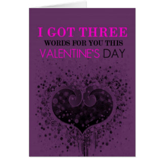 Three Words Valentine's Day Card