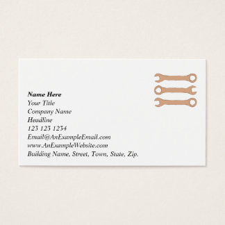 Three Wrenches. Tools. Brown. Business Card