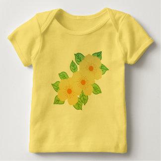 three yellow flowers baby T-Shirt