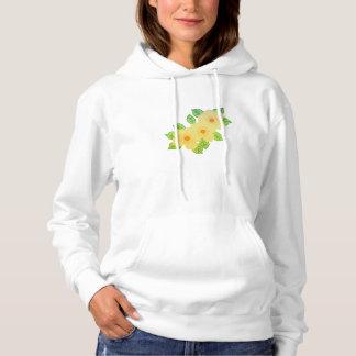 three yellow flowers hoodie