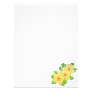three yellow flowers letterhead