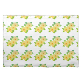 three yellow flowers placemat