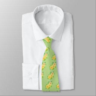 three yellow flowers tie