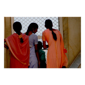 Three young women poster