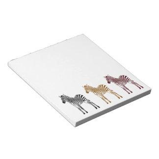 Three Zebras Notepad