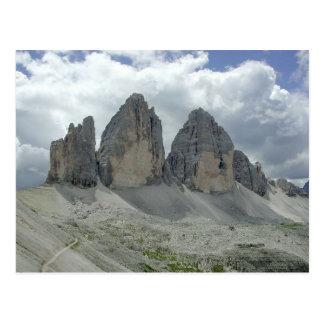Three Zinnen Mountains Postcard