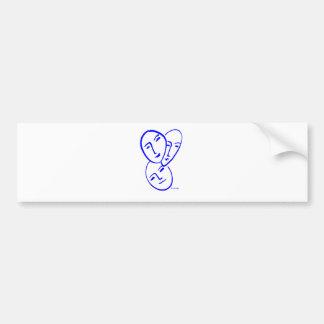 threemasks bumper sticker