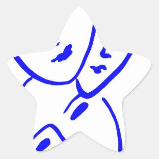 threemasks star sticker