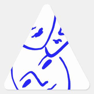 threemasks triangle sticker