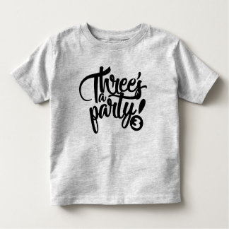 three's a party birthday tee