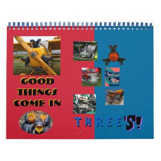Three's Engine Calendar 2014 mid size