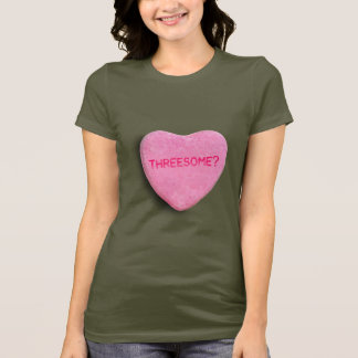 Threesome Candy Heart T-Shirt