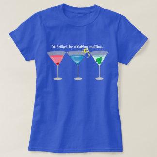 Threetinis Assorted Martinis T-Shirt
