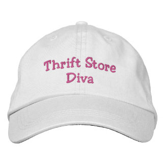 Thrift Store Diva Embroidered Hats