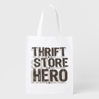 Thrift Store Hero Grocery Bags