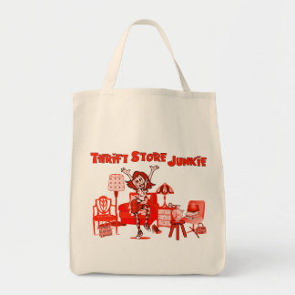 Thrift Store Junkie Grocery Tote Bag