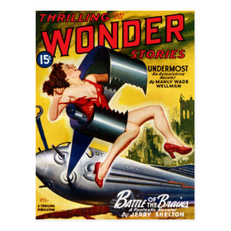 Thrilling Wonder Stories - Undermost Postcard
