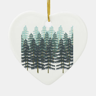 THRIVE IN FOREST CERAMIC HEART ORNAMENT