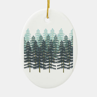 THRIVE IN FOREST CERAMIC OVAL ORNAMENT