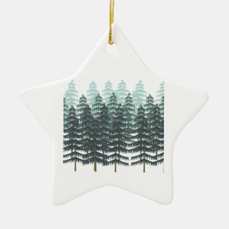 THRIVE IN FOREST CERAMIC STAR ORNAMENT