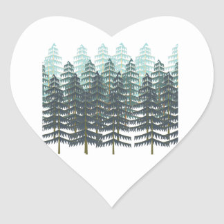 THRIVE IN FOREST HEART STICKER