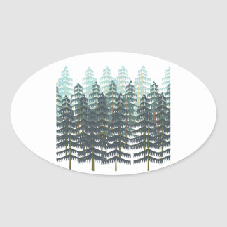 THRIVE IN FOREST OVAL STICKER