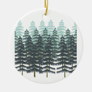 THRIVE IN FOREST ROUND CERAMIC ORNAMENT