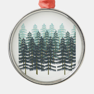 THRIVE IN FOREST Silver-Colored ROUND ORNAMENT