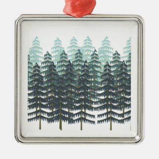 THRIVE IN FOREST Silver-Colored SQUARE ORNAMENT