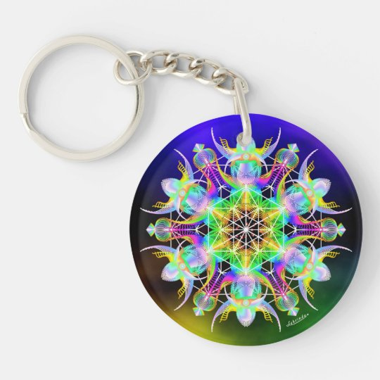 Thrive/Wings of Expectation Double-Sided Round Acrylic Keychain