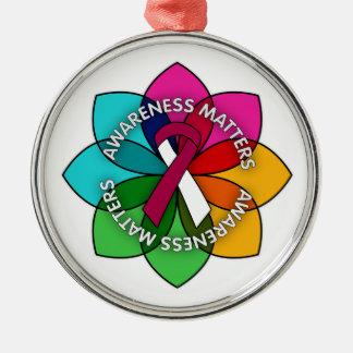 Throat Cancer Awareness Matters Petals Christmas Ornament