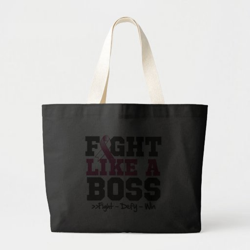 Throat Cancer Fight Like a Boss Canvas Bags