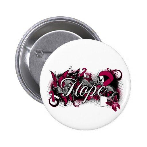 Throat Cancer Hope Garden Ribbon Pins