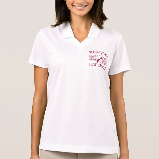 Throat Cancer Survivors Fighting Together Polo Shirt