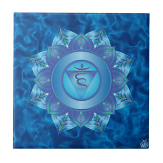 Throat Chakra Ceramic Tile